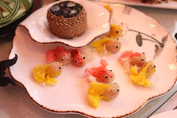 中式面点作品-水饺蒸饺水煎包