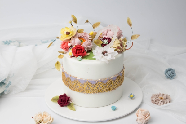 西点作品-韩式裱花蛋糕